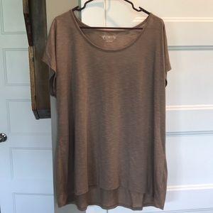 Cato Basic Tan/Brown Short Sleeve Shirt